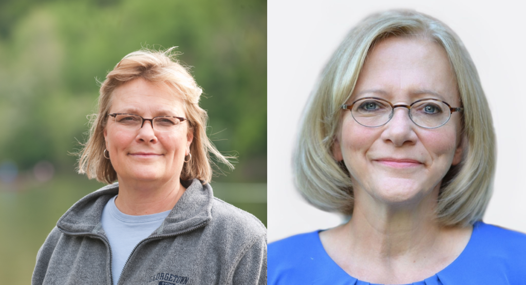 Two head shots, left to right: Dr. Laura Anderko and Dr. Peggy Slota