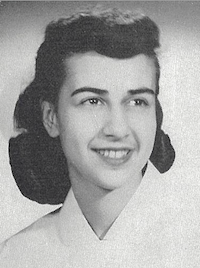 Marie (Santora) Bruce, in her nursing uniform, in the 1948 Caduceus yearbook, courtesy Georgetown University Archives