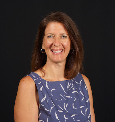 Professor Heather Bradford poses in an official style portrait photo